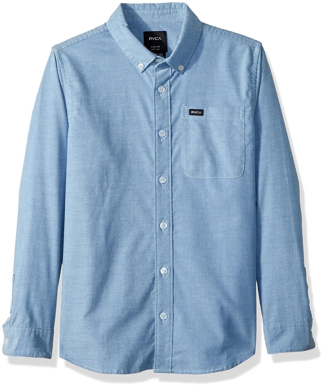 RVCA Boys Big Thatll Do Stretch Long Sleeve Woven Button Down Shirt