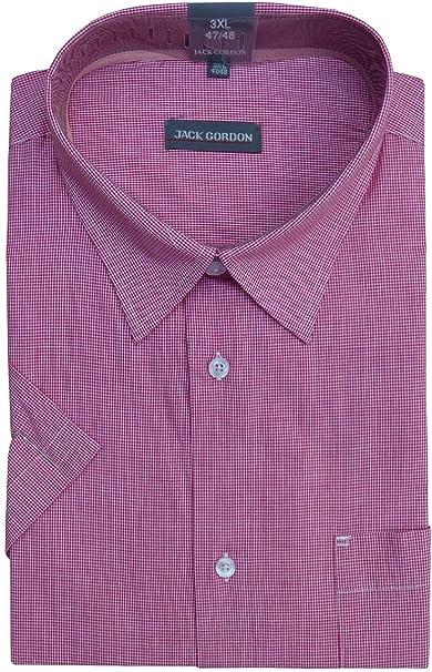 best service 79ede 679e6 Jack Gordon Herren Hemden Oberhemden Kurzarm Kentkragen Karo Streifen  Übergrößen