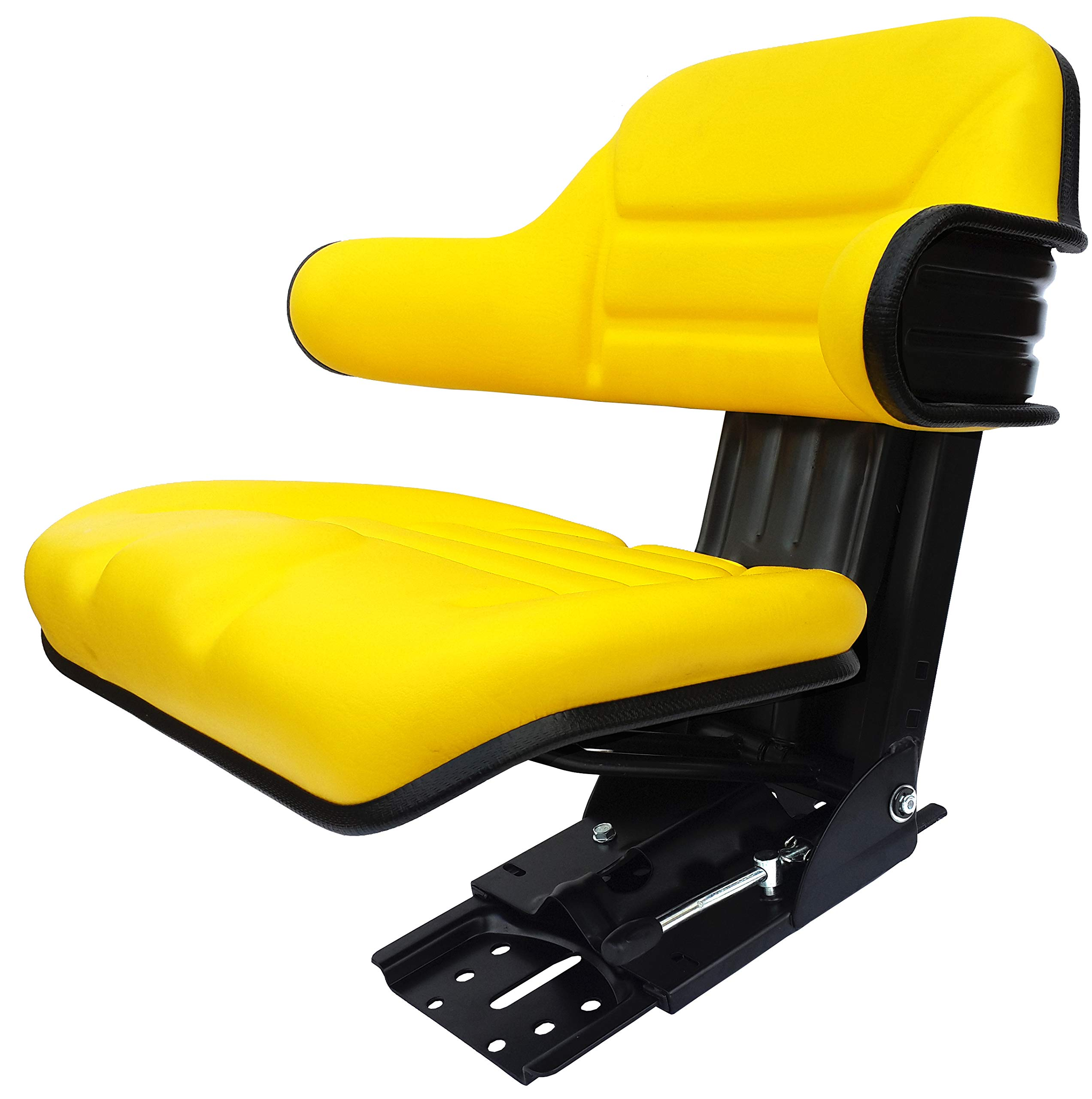 Star ECO 109A Yellow Universal Trapezoid Suspension Tractor Seat (Replacement for John Deere Vehicles)