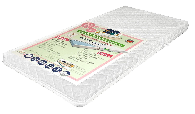 Aro Artländer Baby und Kinder Top-Komponenten Matratze SANISTAR 100% Kaltschaum Premium