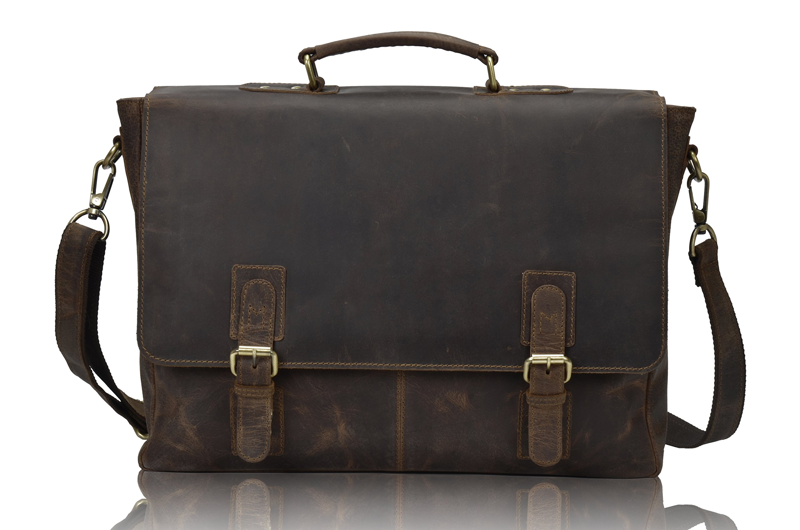 TONY'S BAGS Rustic Leather Laptop Bags Briefcase Computer bags in Vintage Leather