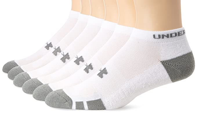 a64292e74e6 Amazon.com: Under Armour Men's Resistor No-Show Socks (6 Pack ...