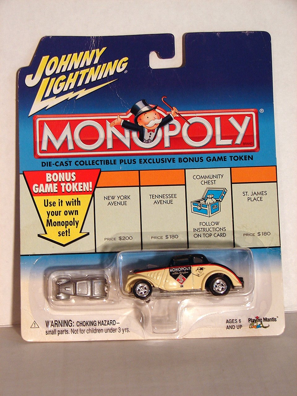 Amazon.com: Johnny Lightning Monopoly Collectible CAR: Toys & Games