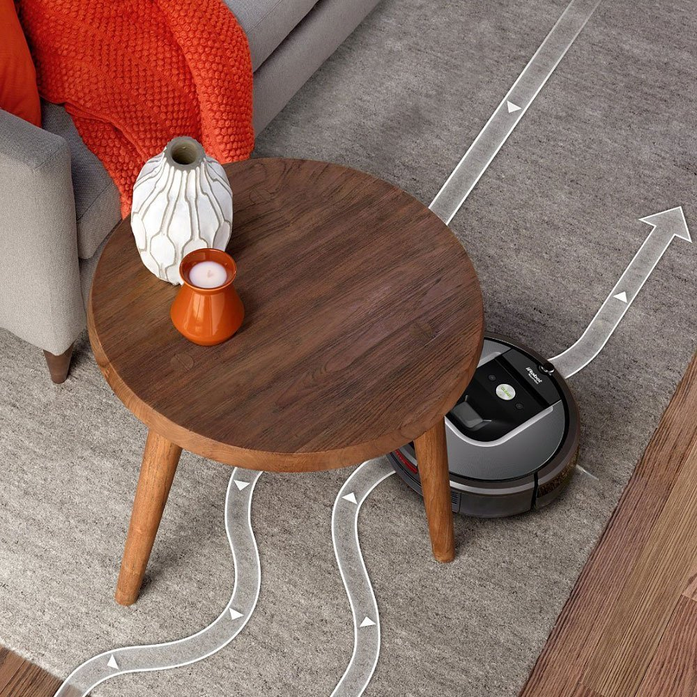 iRobot Roomba 960 Vacuum Cleaning Robot + Dual Mode Virtual Wall Barrier (Batteries) + Extra High Efficiency Filter + Extra Sidebrush + More