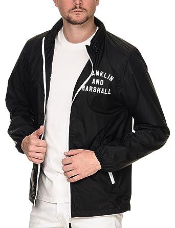 Franklin & Marshall Mens Mens Black Zip Hood Jacket Synthetic: Amazon.es: Ropa y accesorios