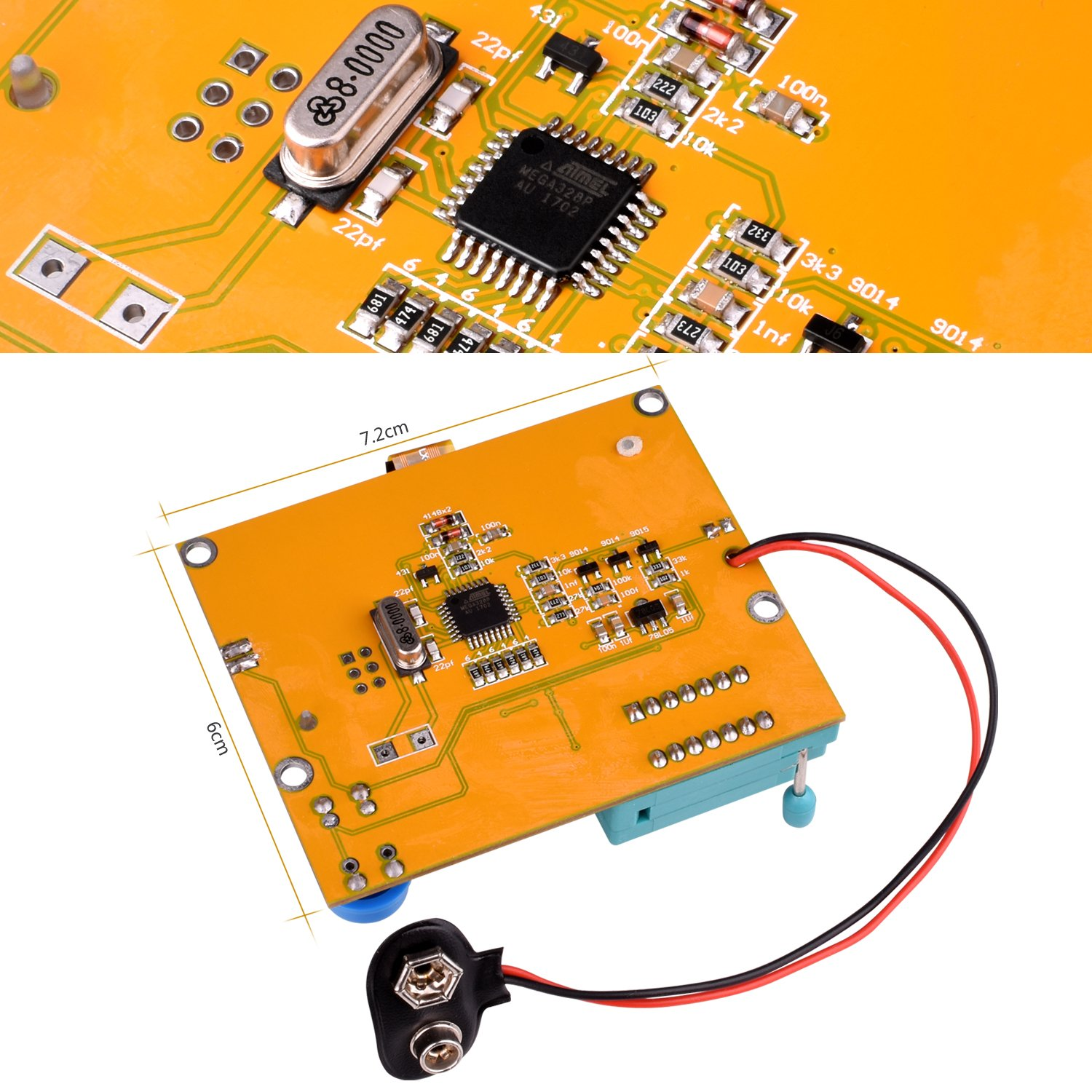 Multifunction Meter Diy Kit Kuman Mega 328 Graphic Transistor Function Generator Besides Pin Xr2206 Circuit On Pnp Diodes Triode Capacitor Esr Scr Mosfet Resistor Inductance Lcd Display Checker With Case And Screwdriver K77 Industrial Scientific