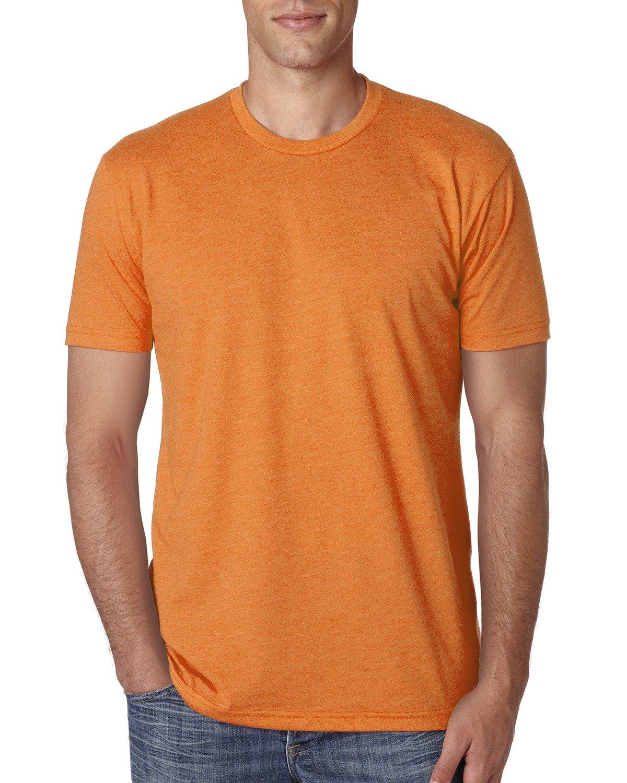 Next Level Apparel メンズ CVC クルーネック ジャージ Tシャツ B014WD44KC L|オレンジ オレンジ L