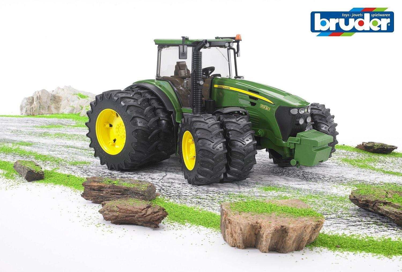 Bruder 03052 - Tractor John Deere 7930 con ruedas dobles: Amazon.es: Juguetes y juegos