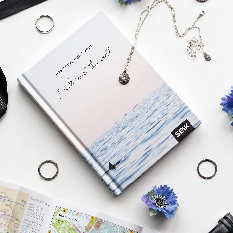 Planner I WILL TRAVE 2019 Happy Calendar ...: Amazon.es ...
