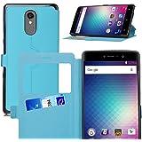 BLU Vivo 5R coque cover case, KuGi ® BLU Vivo 5R coque housse - le style BW ultra-mince affaire stand de haute qualité PU pour téléphone intelligent BLU Vivo 5R.(Bleu)