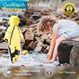 HAPIU Kids Toddler Rain Suit Muddy Buddy Waterproof Coverall,Yellow,4T,Upgraded