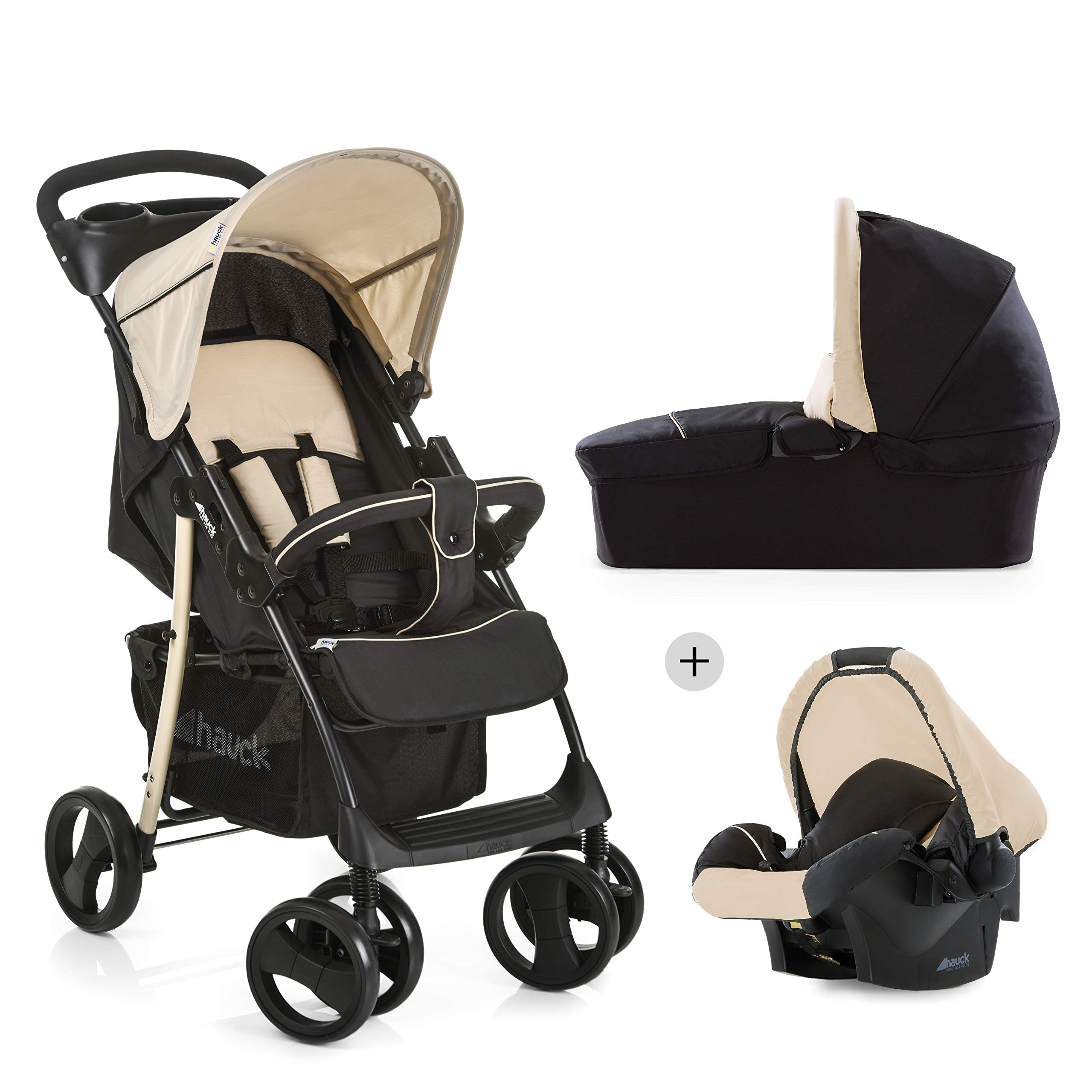 Hauck Shopper SLX trioset - Coche de bebes 3 piezas de capazo, de 0 meses