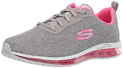 af3e6932a2 Skechers Women's Skech-Air Element-Cinema Gray/Hot Pink Sneakers-3 UK