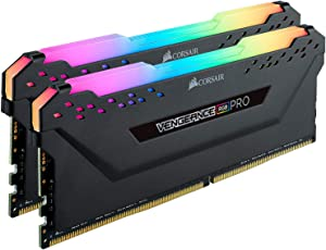 Corsair Vengeance RGB Pro 64GB (2x32GB) DDR4 3200 (PC4-25600) C16 Desktop Memory–Black (CMW64GX4M2E3200C16)