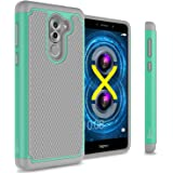 Honor 6X Case, Huawei Mate 9 Lite Case, CoverON [HexaGuard Series] Slim Hybrid Hard Phone Cover Case for Huawei Honor 6X / Mate 9 Lite - Teal / Gray