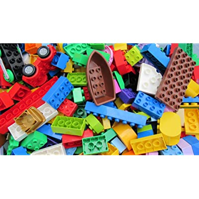 1 Pound of LEGO Duplo Pieces - Around 50 Large Pieces. for Ages 1-3: Toys & Games