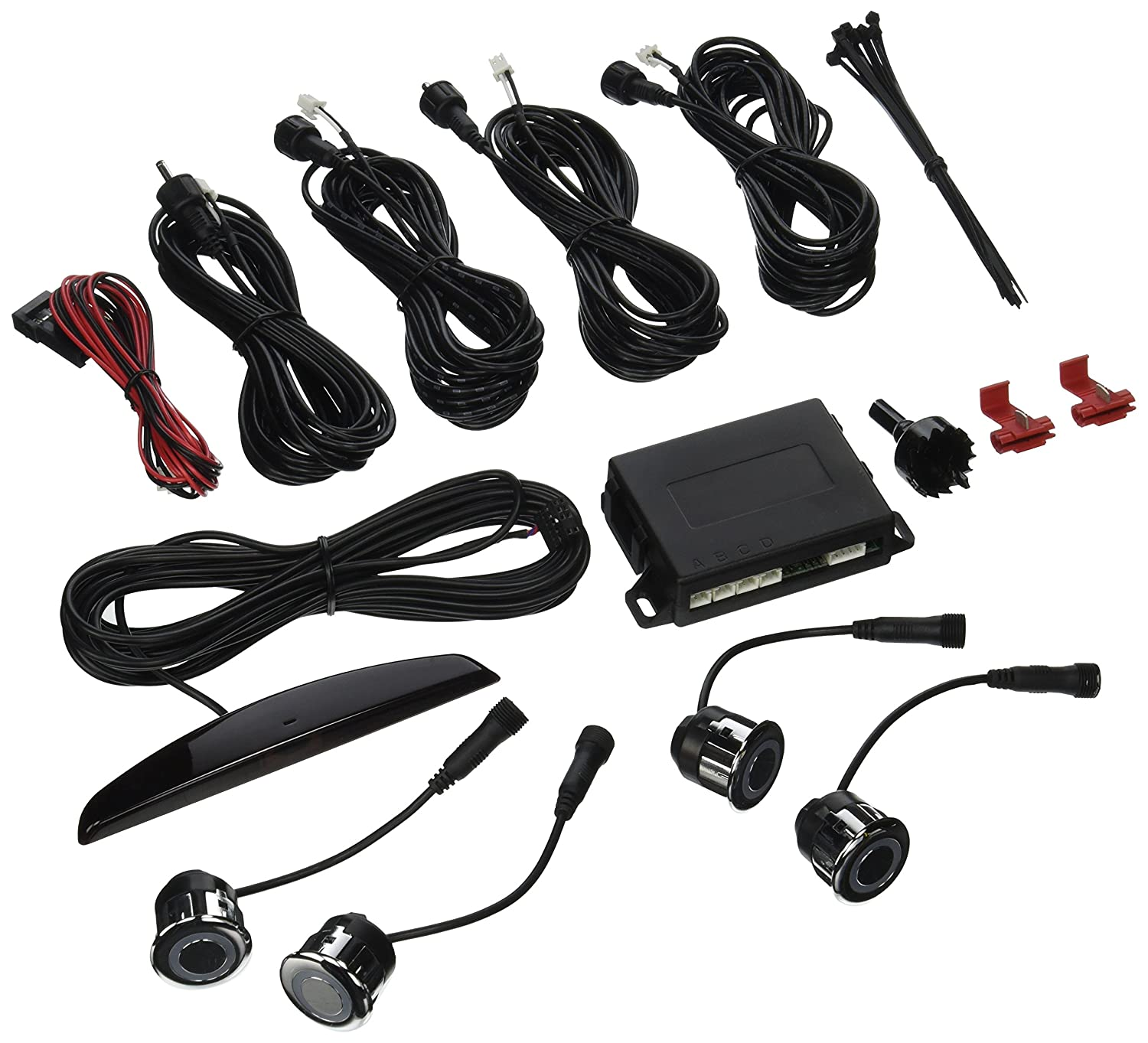 Rear Parking-Assist System with Mini Led Display Crimestopper CA-5014.MBS.C.TR Backstopper TM
