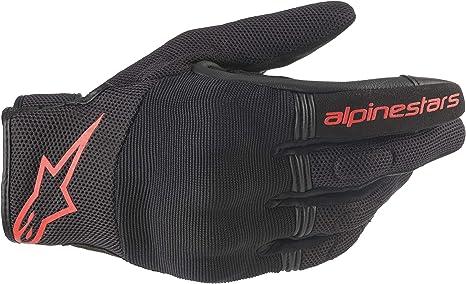 BLACK//RED//FLUO Alpinestars Motorradhandschuhe Copper Gloves Black Red Fluo S