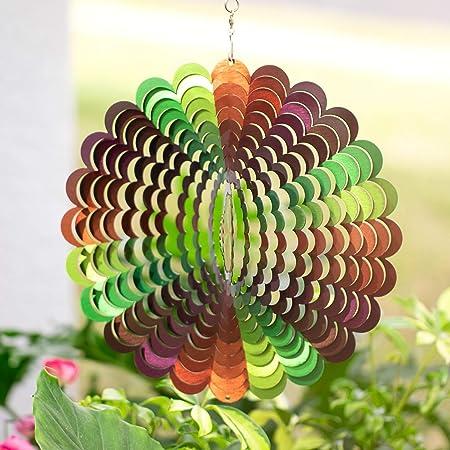 """Hanging Spiral Wind Spinner 25/"""" Outdoor Garden Yard Decor"""