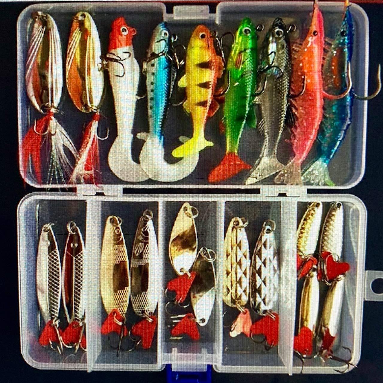 Pesca Peche Hot New Multi Fishing Lure Mixed Colors Plastic Metal Bait Soft Lure Kit Fishing Tackle Wobbler Spoon Artificias