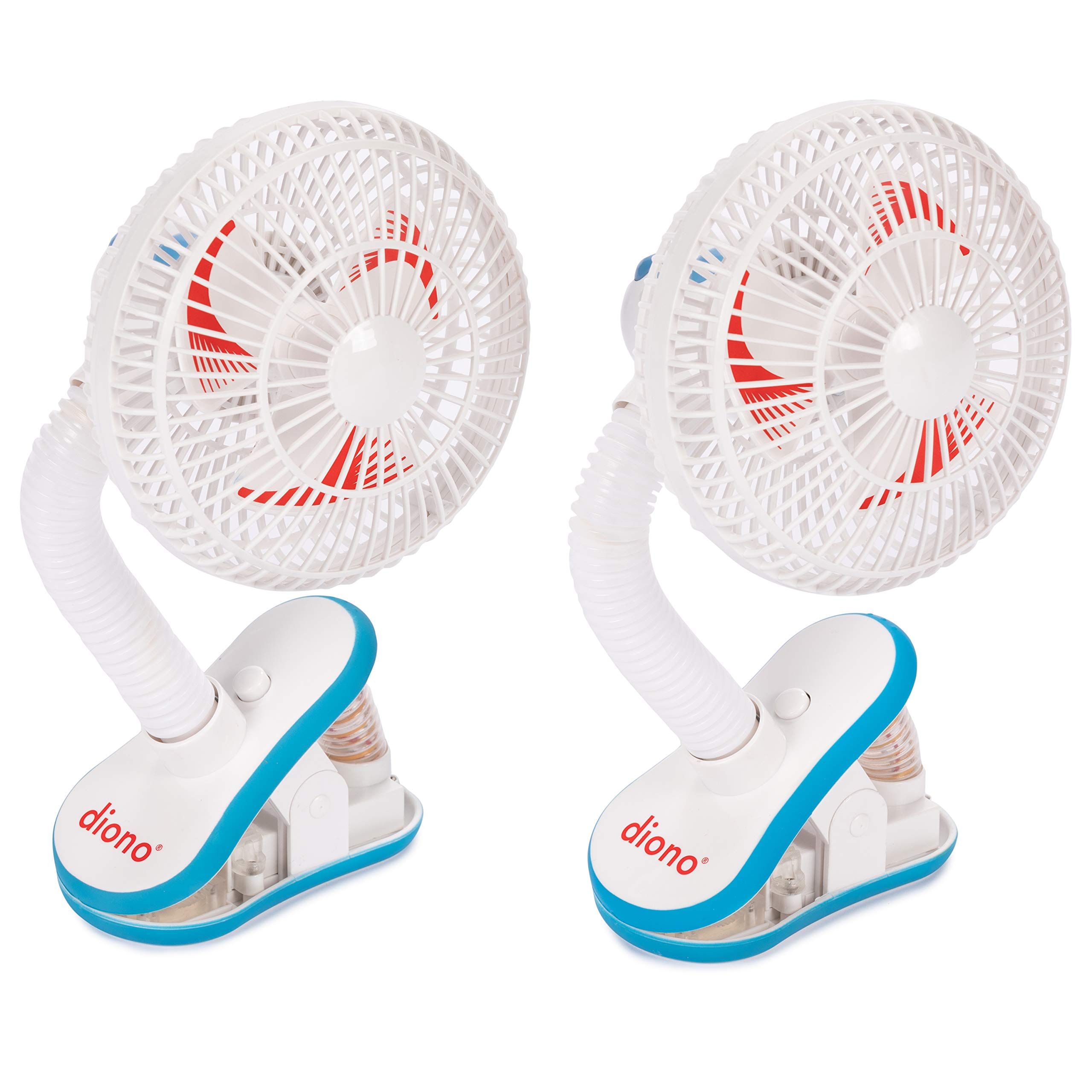 Diono Two2Go Stroller Fan, 2-pk, White by Diono