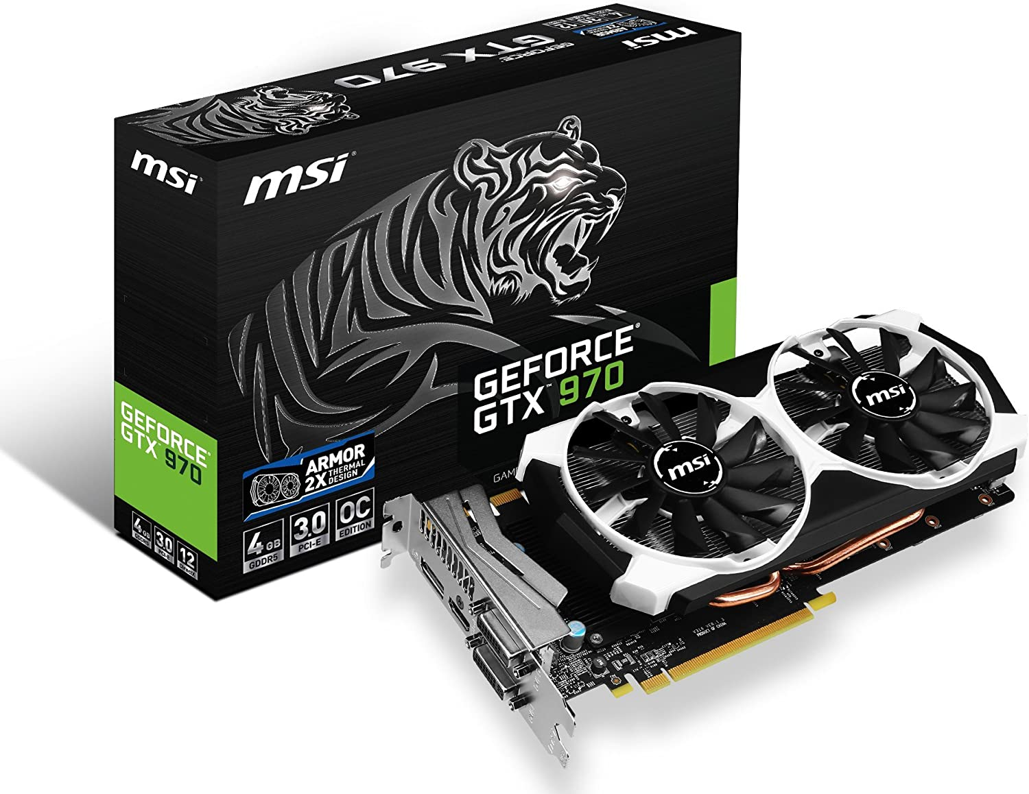 Durable Game Graphics Card GTX970 4GB DDR5 128Bit Card BRCE 02