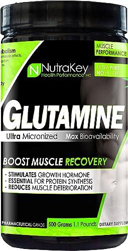 NutraKey L-Glutamine 500 Gram