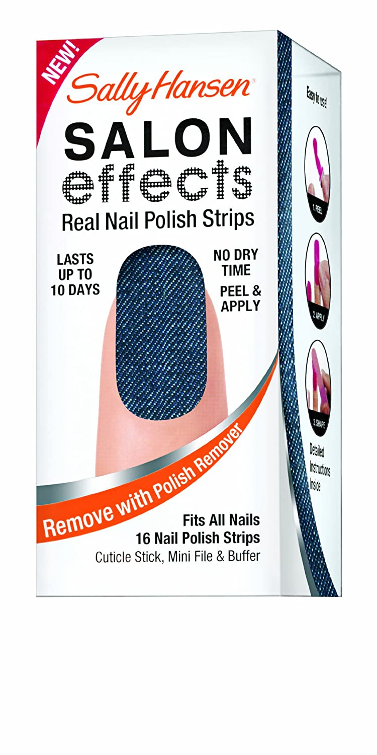 Amazon.com : Sally Hansen Salon Effects Real Nail Polish Strips ...