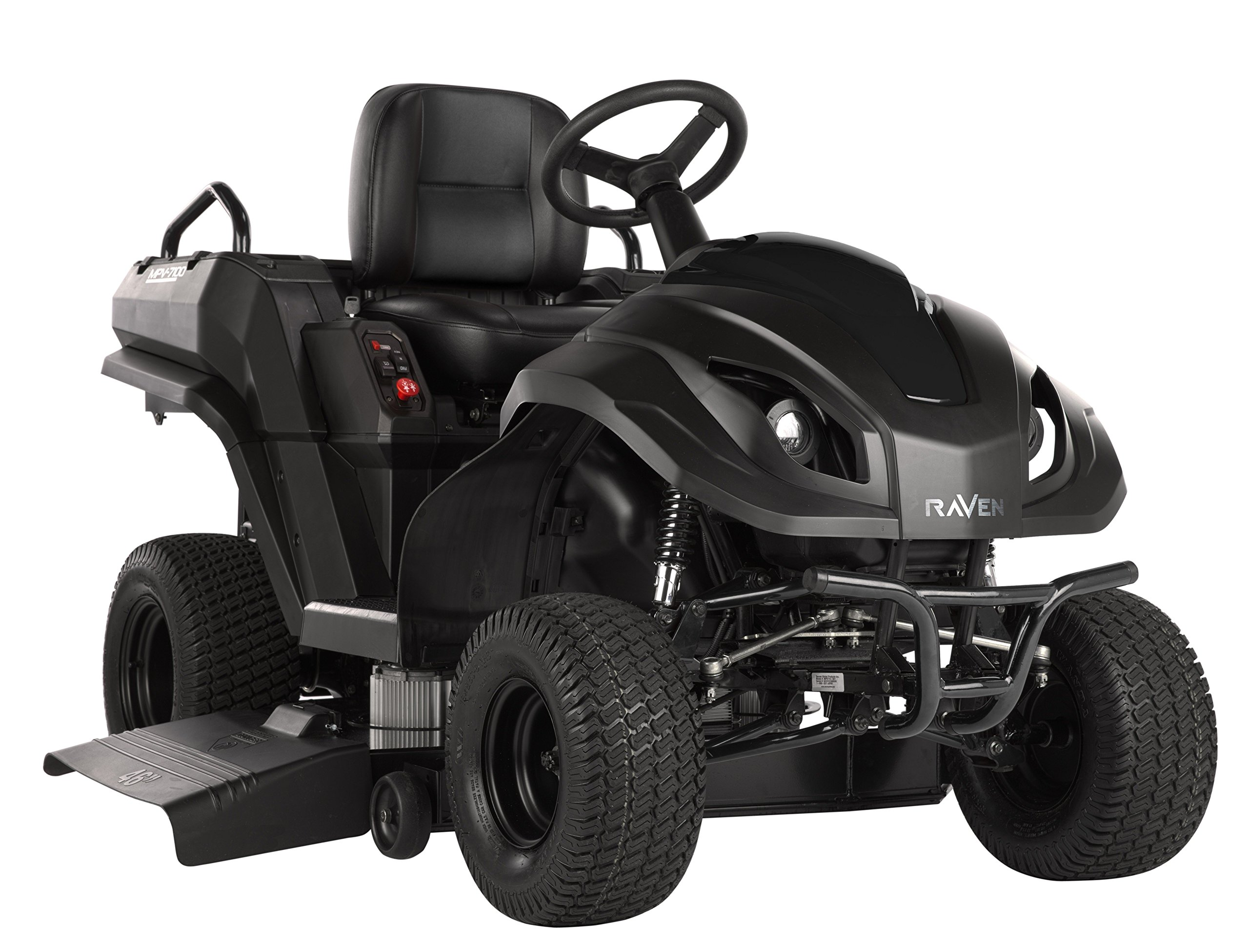 Raven MPV7100B Hybrid Riding Lawnmower Power Generator and Utility Vehicle, Black