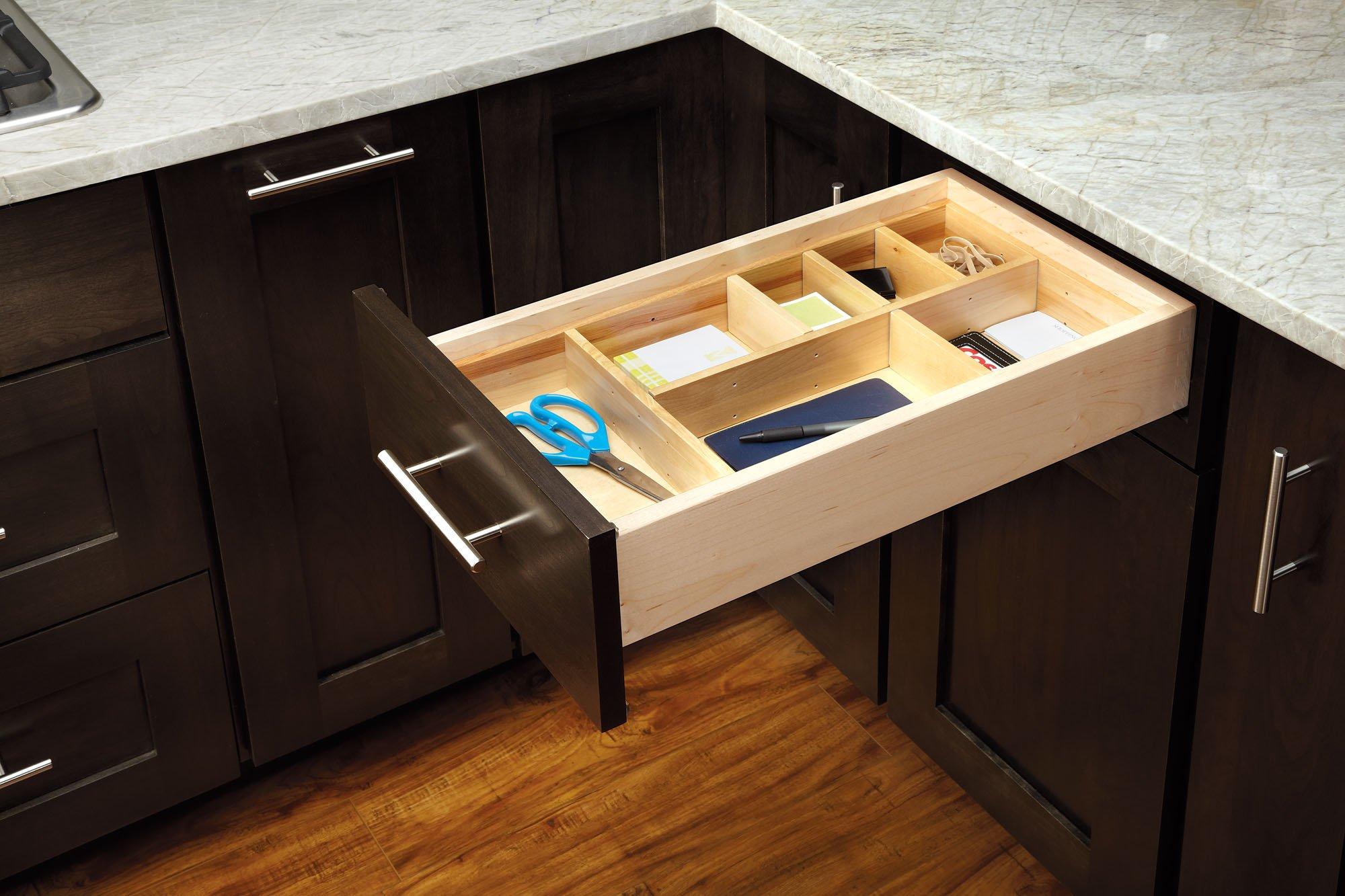 Rev-A-Shelf LD-4CT21-1 - Large Adjustable Wood Drawer Organizer Kit