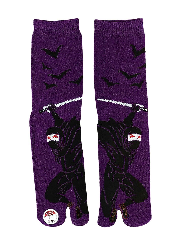 Corazon Mens Tabi Socks with Japansese Design 25-27cm Ninja
