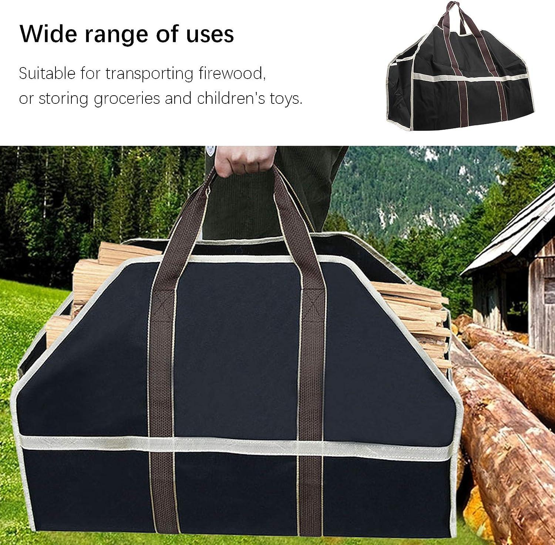 resistente allo strappo resistente allusura per tronchi di quercia e acero da esterno borsa da trasporto Portalegna per carichi pesanti