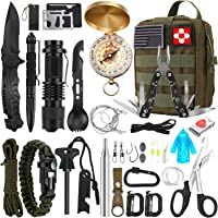 Verifygear 32 in 1 Professional Emergency Survival Kit with Molle Pouch Gifts Ideas (Green)