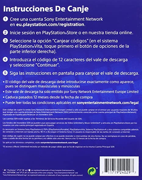 Sony - Tarjeta De Carga PSN De 50 - Reedición (PS3): Amazon.es ...