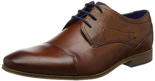 312101082100, Zapatos de Cordones Derby para Hombre, Marrón (Cognac), 43 EU Bugatti