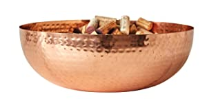 "Creative Co-Op DA7390 Bowl 14""L x 14""W x 4.5""H Copper"