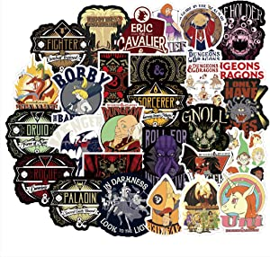 SEBADA 50Pcs Dungeons & Dragons Stickers for Laptop Motorcycle Bicycle Skateboard Luggage Decal Graffiti Patches[No-Duplicate Sticker Pack] HJKT