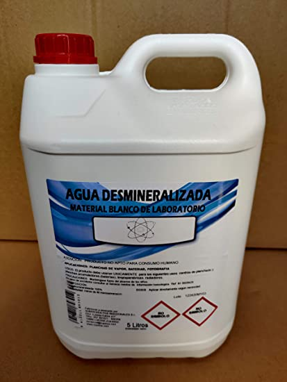 Agua desmineralizada 15 litros (3 garrafas de 5 litros), para planchas de Vapor, baterías o fotografía, Entre Otros: Amazon.es: Coche y moto