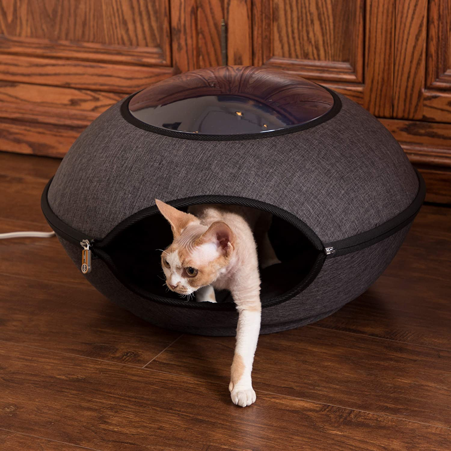 K H Pet Products Thermo-Lookout Pod Heated Cat Bed, 22in, 4 Watt