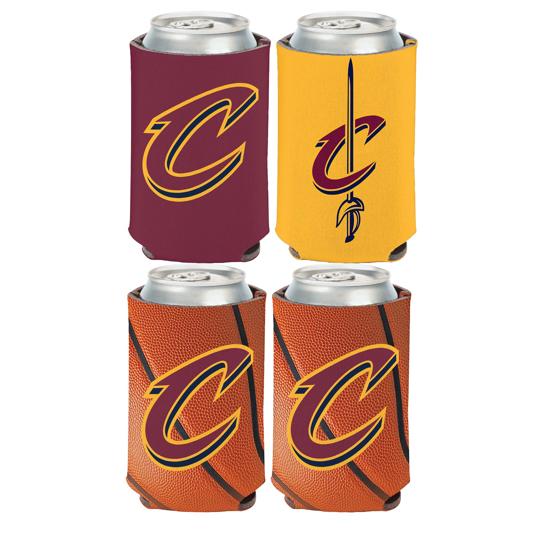WinCraft NBA Cleveland Cavaliers 2 PACK 12 oz. 2-Sided Can Coolers
