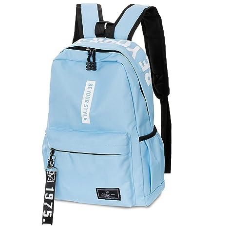 600c90d551f1f SANMIO Schulrucksack Mädchen Schultaschen Canvas Rucksack Schultasche  Backpack Daypacks für Damen Herren geeignet für 15.6 Zoll