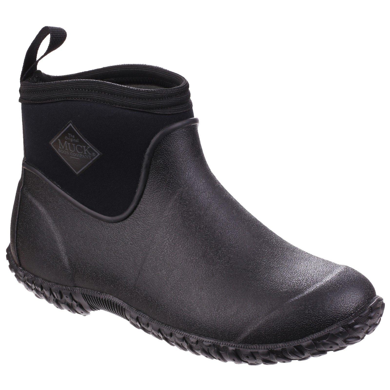 Muck Boot Mens Muckster II Ankle All-Purpose Lightweight Shoe (7 US) (Black/Black)