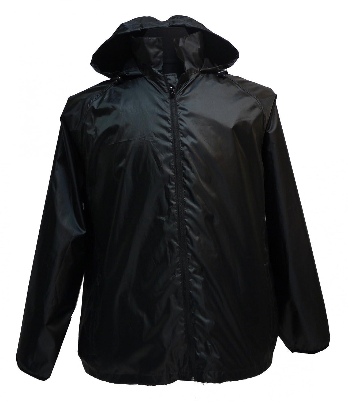 Leichte Regenjacke in in in großen Größen bis 12XL, schwarz B01N2SBN5M Regenjacken & -mntel Elegant natürlich 3ec452