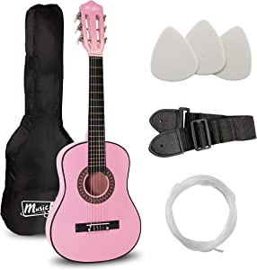 Music Alley 6 String Size 30inch Junior Classical Guitar (Pink), (MA-51)