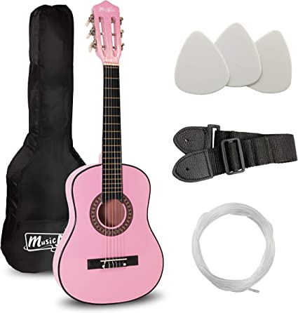 Música Alley junior guitarra Edad durante 3 a 7 - rosa: Amazon.es ...