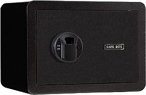 Biometric Fingerprint Safes, Fingerprint Recognition System Lock Box Safes for Home,Hotel,Office,Dormitories, 0.62 Cubic Feet