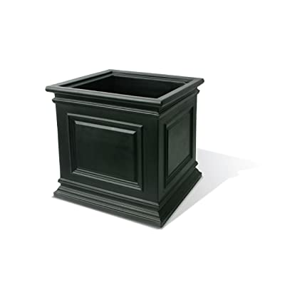 "Algreen 88207 Covington Self-Watering Planter, 16"", Black : Garden & Outdoor"