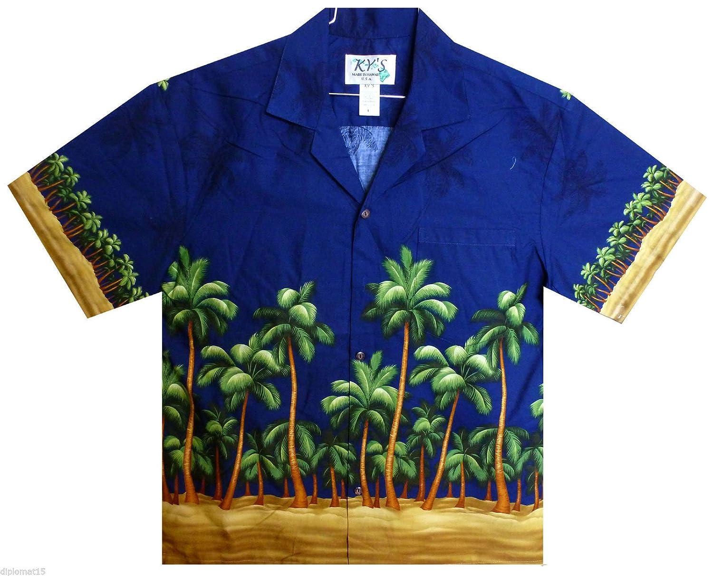 KY´s Original Hawaiian Shirt Hawaiihemd Weiß Grün Sommer Flamingo