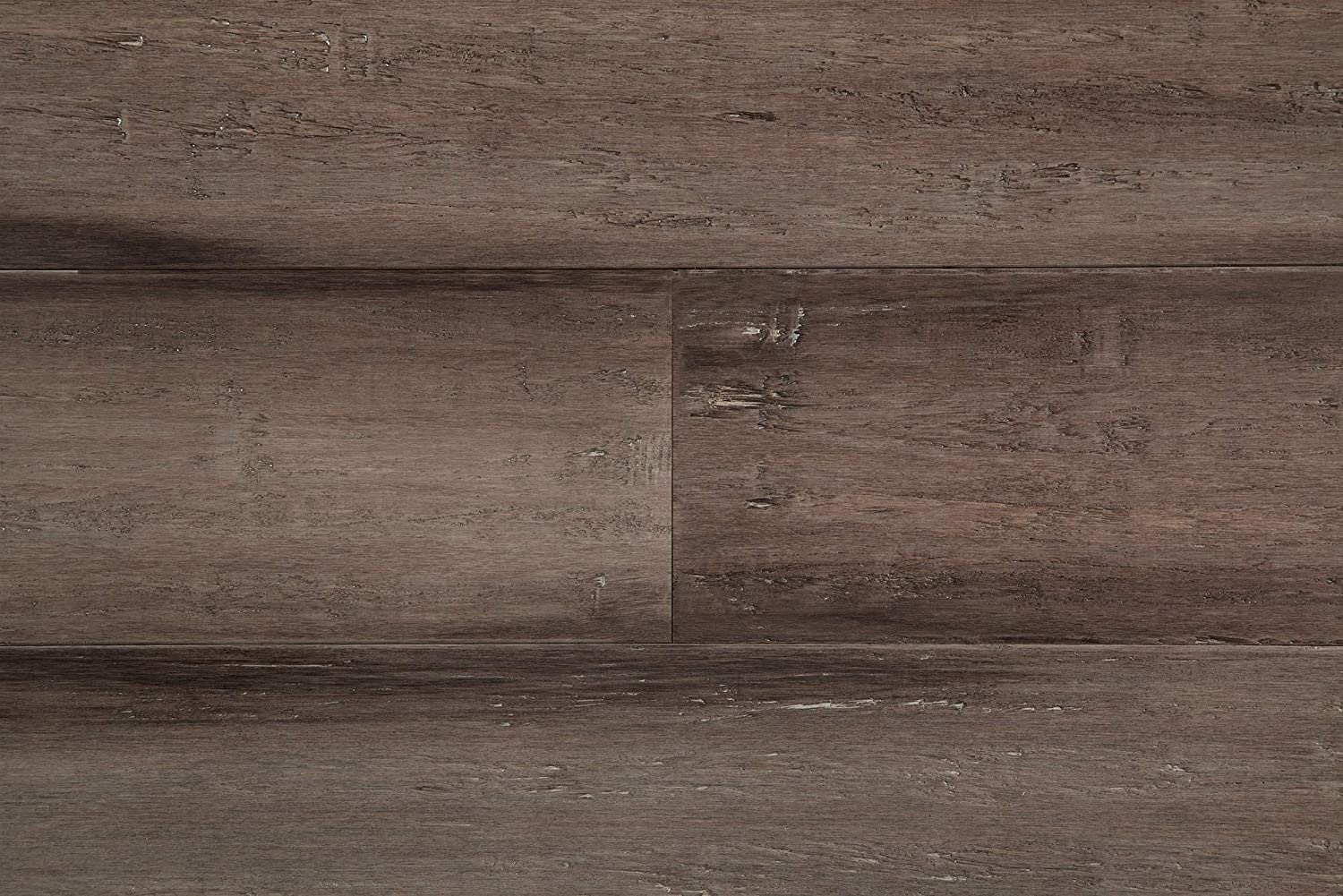 5 9//16 Sample Yanchi Wide-Plank T/&G Solid Strand Woven Bamboo Flooring-Antique Slate