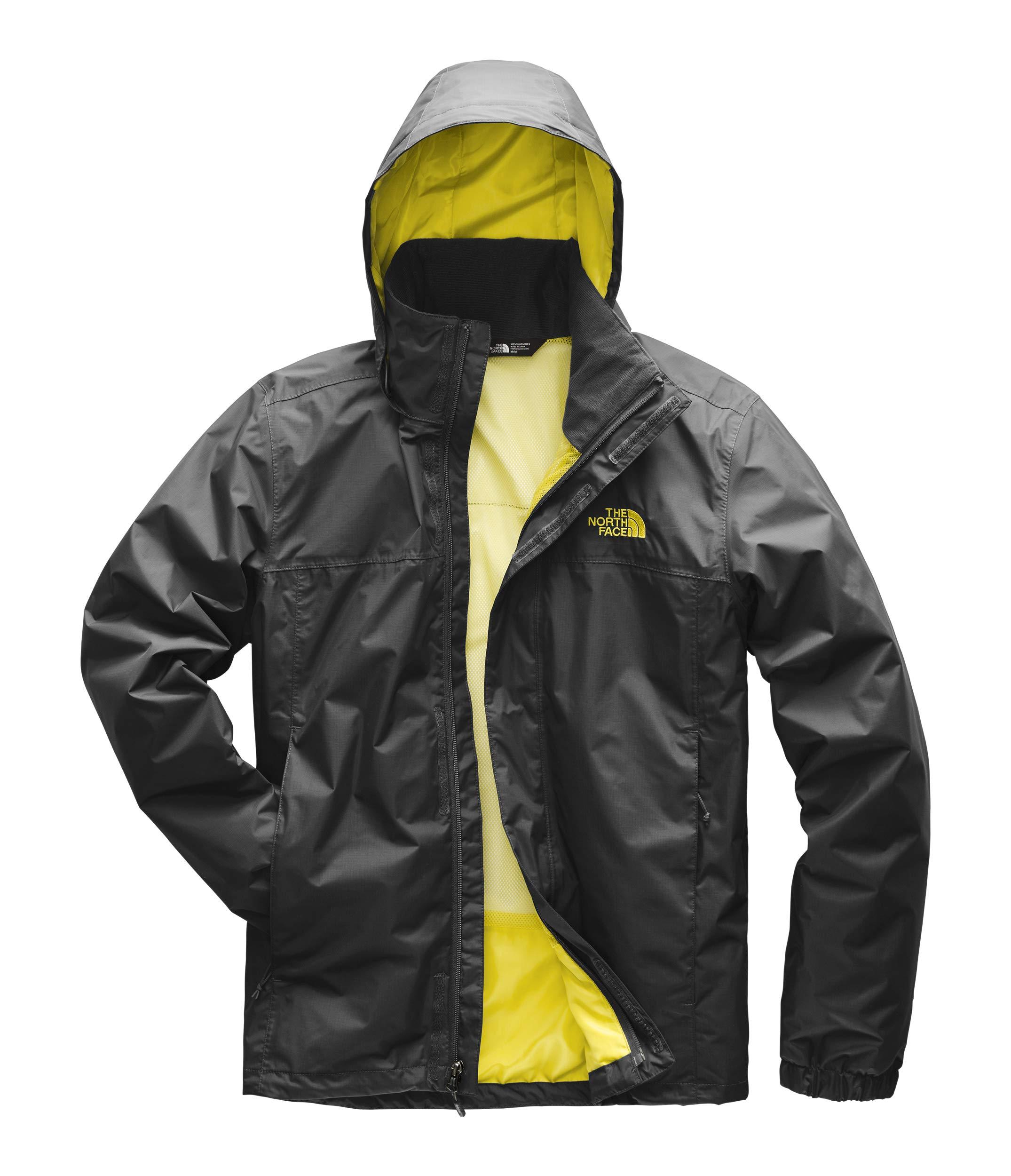 def07e658 The North Face Men's Resolve 2 Jacket Asphalt Grey/Acid Yellow X-Large